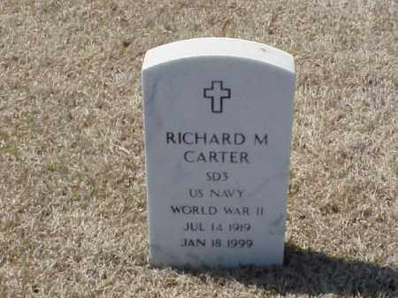 CARTER (VETERAN WWII), RICHARD M - Pulaski County, Arkansas | RICHARD M CARTER (VETERAN WWII) - Arkansas Gravestone Photos