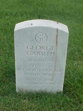 CARUTH (VETERAN WWI), GEORGE - Pulaski County, Arkansas | GEORGE CARUTH (VETERAN WWI) - Arkansas Gravestone Photos