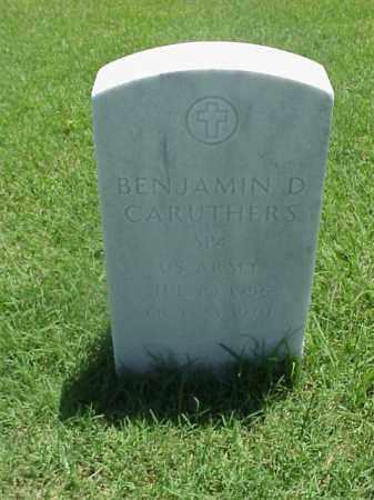 CARUTHERS (VETERAN), BENJAMIN D - Pulaski County, Arkansas | BENJAMIN D CARUTHERS (VETERAN) - Arkansas Gravestone Photos