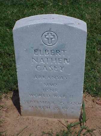 CASEY (VETERAN WWII), ELBERT NATHEN - Pulaski County, Arkansas | ELBERT NATHEN CASEY (VETERAN WWII) - Arkansas Gravestone Photos