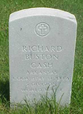 CASH (VETERAN WWI), RICHARD BUSTON - Pulaski County, Arkansas | RICHARD BUSTON CASH (VETERAN WWI) - Arkansas Gravestone Photos