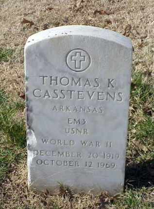 CASSTEVENS (VETERAN WWII), THOMAS K - Pulaski County, Arkansas | THOMAS K CASSTEVENS (VETERAN WWII) - Arkansas Gravestone Photos