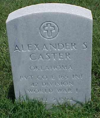 CASTER (VETERAN WWI), ALEXANDER S - Pulaski County, Arkansas | ALEXANDER S CASTER (VETERAN WWI) - Arkansas Gravestone Photos