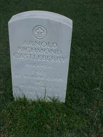 CASTLEBERRY (VETERAN WWII), ARNOLD RICHMOND - Pulaski County, Arkansas | ARNOLD RICHMOND CASTLEBERRY (VETERAN WWII) - Arkansas Gravestone Photos