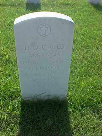 CATES (VETERAN WWI), D D - Pulaski County, Arkansas | D D CATES (VETERAN WWI) - Arkansas Gravestone Photos