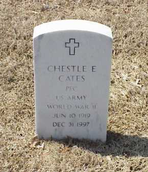 CATES (VETERAN WWII), CHESTLE E - Pulaski County, Arkansas | CHESTLE E CATES (VETERAN WWII) - Arkansas Gravestone Photos