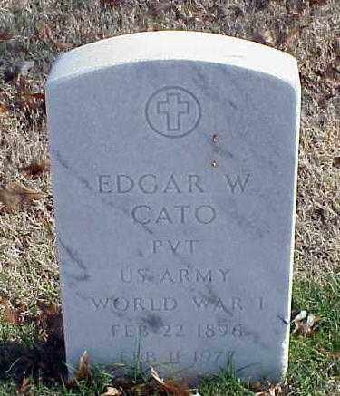 CATO (VETERAN WWI), EDGAR W - Pulaski County, Arkansas | EDGAR W CATO (VETERAN WWI) - Arkansas Gravestone Photos