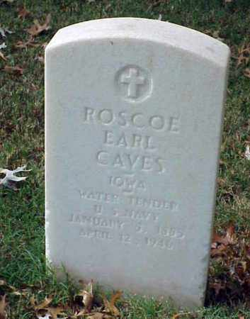 CAVES (VETERAN), ROSCOE EARL - Pulaski County, Arkansas | ROSCOE EARL CAVES (VETERAN) - Arkansas Gravestone Photos
