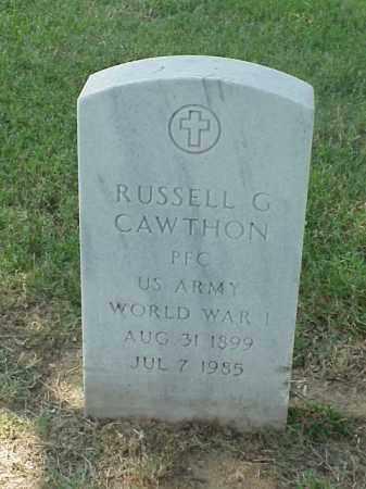 CAWTHON (VETERAN WWI), RUSSELL G - Pulaski County, Arkansas | RUSSELL G CAWTHON (VETERAN WWI) - Arkansas Gravestone Photos