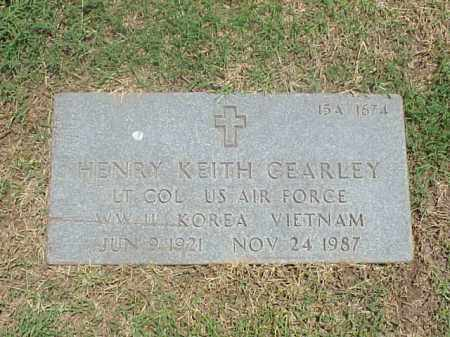 CEARLEY (VETERAN 3 WARS), HENRY KEITH - Pulaski County, Arkansas | HENRY KEITH CEARLEY (VETERAN 3 WARS) - Arkansas Gravestone Photos
