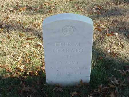 CERRATO (VETERAN WWII), FRED M - Pulaski County, Arkansas | FRED M CERRATO (VETERAN WWII) - Arkansas Gravestone Photos