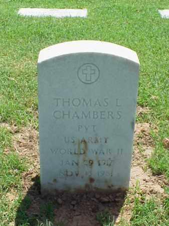 CHAMBERS (VETERAN WWII), THOMAS L - Pulaski County, Arkansas | THOMAS L CHAMBERS (VETERAN WWII) - Arkansas Gravestone Photos