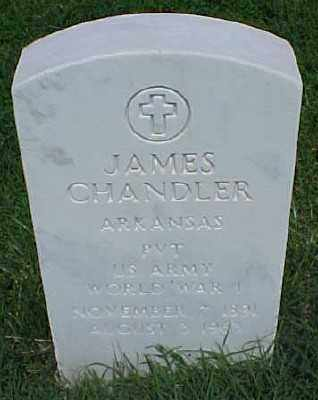 CHANDLER (VETERAN WWI), JAMES - Pulaski County, Arkansas | JAMES CHANDLER (VETERAN WWI) - Arkansas Gravestone Photos