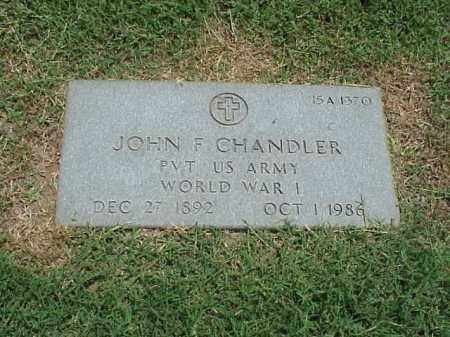 CHANDLER (VETERAN WWI), JOHN F - Pulaski County, Arkansas | JOHN F CHANDLER (VETERAN WWI) - Arkansas Gravestone Photos