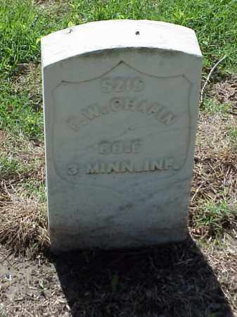 CHAPIN (VETERAN UNION), F W - Pulaski County, Arkansas | F W CHAPIN (VETERAN UNION) - Arkansas Gravestone Photos