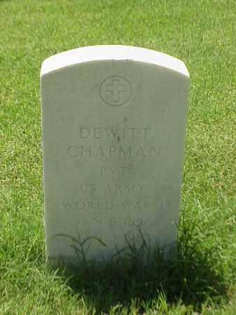 CHAPMAN (VETERAN WWI), DEWITT - Pulaski County, Arkansas | DEWITT CHAPMAN (VETERAN WWI) - Arkansas Gravestone Photos