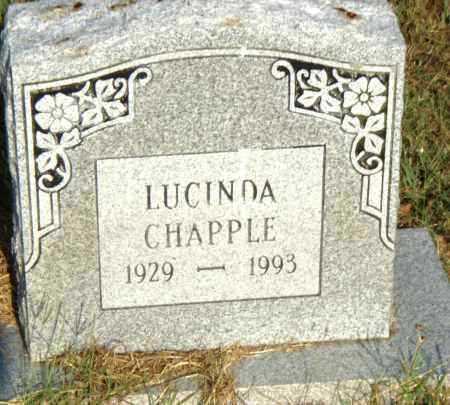 CHAPPLE, LUCINDA - Pulaski County, Arkansas | LUCINDA CHAPPLE - Arkansas Gravestone Photos