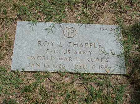 CHAPPLE (VETERAN 2 WARS), ROY L - Pulaski County, Arkansas | ROY L CHAPPLE (VETERAN 2 WARS) - Arkansas Gravestone Photos