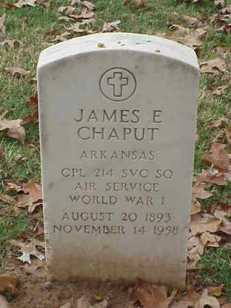 CHAPUT (VETERAN WWI), JAMES E - Pulaski County, Arkansas | JAMES E CHAPUT (VETERAN WWI) - Arkansas Gravestone Photos