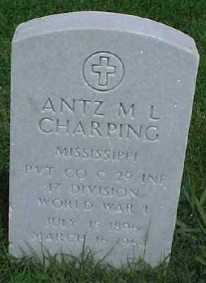 CHARPING (VETERAN WWI), ANTZ M L - Pulaski County, Arkansas | ANTZ M L CHARPING (VETERAN WWI) - Arkansas Gravestone Photos