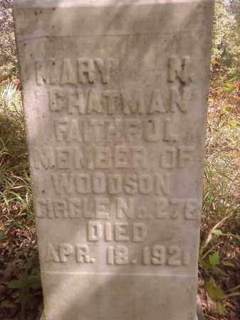 CHATMAN, MARY N - Pulaski County, Arkansas | MARY N CHATMAN - Arkansas Gravestone Photos