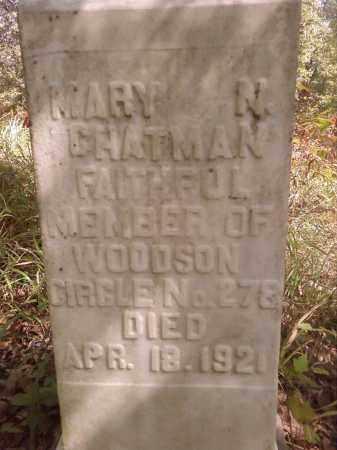 CHATMAN, MARY N - Pulaski County, Arkansas | MARY N CHATMAN - Arkansas Gravestone Photos