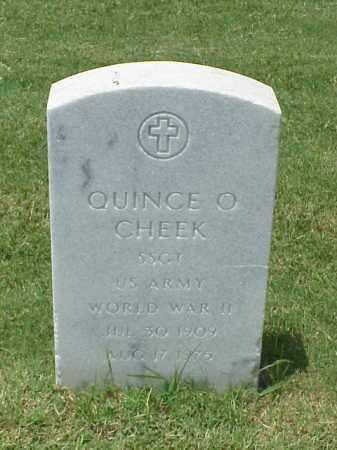 CHEEK (VETERAN WWII), QUINCE O - Pulaski County, Arkansas | QUINCE O CHEEK (VETERAN WWII) - Arkansas Gravestone Photos