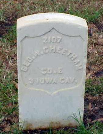 CHEETHAM (VETERAN UNION), GEORGE W - Pulaski County, Arkansas | GEORGE W CHEETHAM (VETERAN UNION) - Arkansas Gravestone Photos