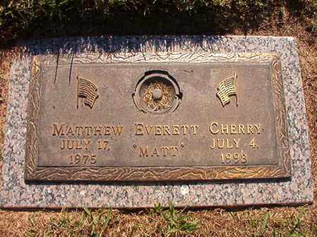 CHERRY, MATTHEW EVERETT - Pulaski County, Arkansas | MATTHEW EVERETT CHERRY - Arkansas Gravestone Photos