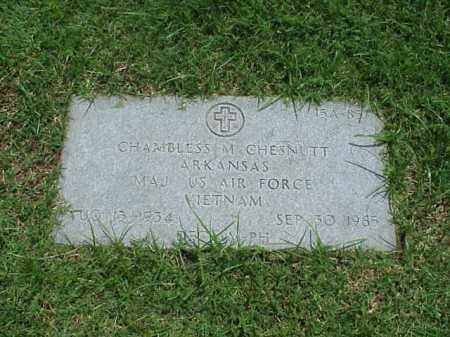 CHESNUTT (VETERAN VIET), CHAMBLESS M - Pulaski County, Arkansas | CHAMBLESS M CHESNUTT (VETERAN VIET) - Arkansas Gravestone Photos