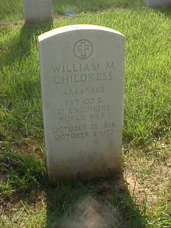 CHILDRESS (VETERAN WWI), WILLIAM M - Pulaski County, Arkansas | WILLIAM M CHILDRESS (VETERAN WWI) - Arkansas Gravestone Photos