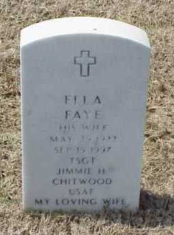 CHITWOOD, ELLA FAYE - Pulaski County, Arkansas | ELLA FAYE CHITWOOD - Arkansas Gravestone Photos
