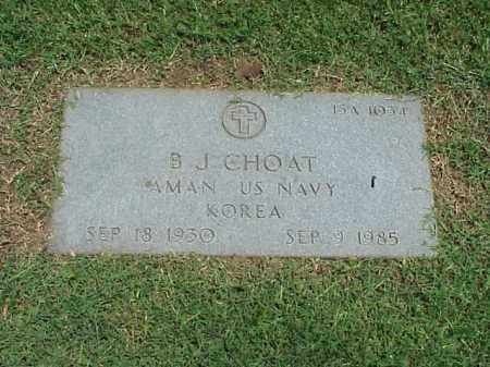 CHOAT (VETERAN KOR), B J - Pulaski County, Arkansas | B J CHOAT (VETERAN KOR) - Arkansas Gravestone Photos