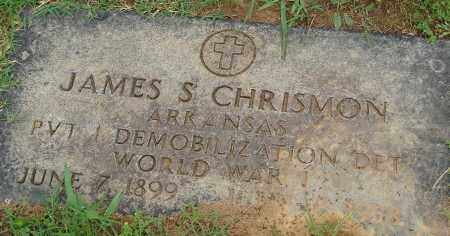 CHRISMON (VETERAN WWI), JAMES S - Pulaski County, Arkansas | JAMES S CHRISMON (VETERAN WWI) - Arkansas Gravestone Photos