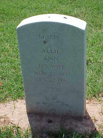 CHRISSONBERRY, ALLIE ANN - Pulaski County, Arkansas | ALLIE ANN CHRISSONBERRY - Arkansas Gravestone Photos