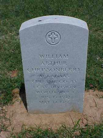 CHRISSONBERRY (VETERAN WWI), WILLIAM ARTHUR - Pulaski County, Arkansas | WILLIAM ARTHUR CHRISSONBERRY (VETERAN WWI) - Arkansas Gravestone Photos