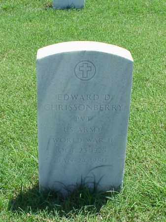 CHRISSONBERRY (VETERAN WWII), EDWARD D - Pulaski County, Arkansas | EDWARD D CHRISSONBERRY (VETERAN WWII) - Arkansas Gravestone Photos