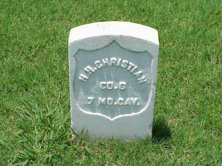CHRISTIAN (VETERAN UNION), HENRY H - Pulaski County, Arkansas | HENRY H CHRISTIAN (VETERAN UNION) - Arkansas Gravestone Photos