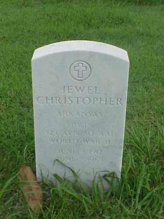 CHRISTOPHER (VETERAN WWII), JEWEL - Pulaski County, Arkansas | JEWEL CHRISTOPHER (VETERAN WWII) - Arkansas Gravestone Photos