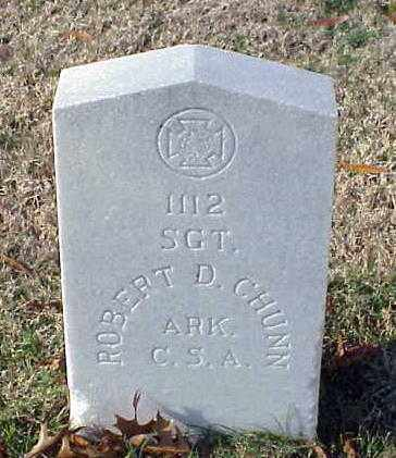 CHUNN (VETERAN CSA), ROBERT D - Pulaski County, Arkansas | ROBERT D CHUNN (VETERAN CSA) - Arkansas Gravestone Photos