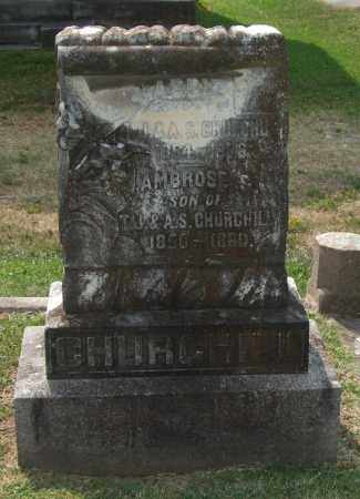 CHURCHILL, AMBOSE S. - Pulaski County, Arkansas | AMBOSE S. CHURCHILL - Arkansas Gravestone Photos