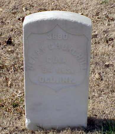 CHURCHILL (VETERAN UNION), HENRY - Pulaski County, Arkansas | HENRY CHURCHILL (VETERAN UNION) - Arkansas Gravestone Photos