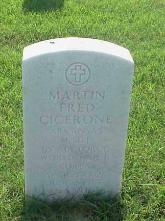 CICERONE (VETERAN 2 WARS), MARTIN FRED - Pulaski County, Arkansas | MARTIN FRED CICERONE (VETERAN 2 WARS) - Arkansas Gravestone Photos