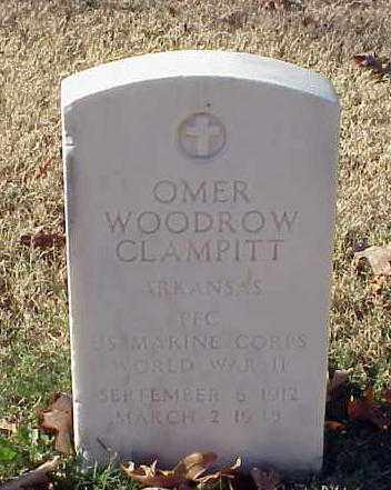 CLAMPITT (VETERAN WWII), OMER WOODROW - Pulaski County, Arkansas | OMER WOODROW CLAMPITT (VETERAN WWII) - Arkansas Gravestone Photos