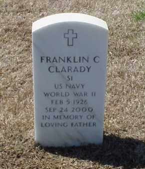 CLARADY (VETERAN WWII), FRANKLIN C - Pulaski County, Arkansas | FRANKLIN C CLARADY (VETERAN WWII) - Arkansas Gravestone Photos
