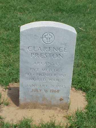 CLARENCE (VETERAN WWI), PRESTON - Pulaski County, Arkansas | PRESTON CLARENCE (VETERAN WWI) - Arkansas Gravestone Photos