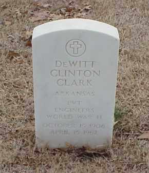 CLARK  (VETERAN WWII), DEWITT CLINTON - Pulaski County, Arkansas | DEWITT CLINTON CLARK  (VETERAN WWII) - Arkansas Gravestone Photos
