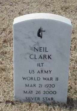 CLARK  (VETERAN WWII), NEIL - Pulaski County, Arkansas | NEIL CLARK  (VETERAN WWII) - Arkansas Gravestone Photos