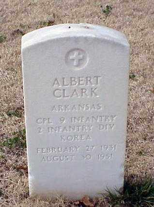 CLARK (VETERAN KOR), ALBERT - Pulaski County, Arkansas | ALBERT CLARK (VETERAN KOR) - Arkansas Gravestone Photos