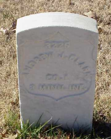 CLARK (VETERAN UNION), ANDREW J - Pulaski County, Arkansas | ANDREW J CLARK (VETERAN UNION) - Arkansas Gravestone Photos